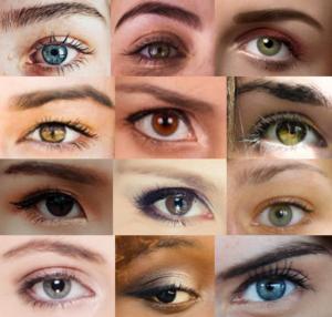 Verschillende oogkleuren bij verschillende huidskleuren